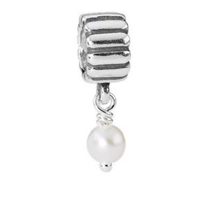 Pandora June Pearl Dangle Charm
